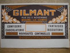 Publicité Originale Chocolaterie-Confiserie GILMANT à BRAINE-LE-COMTE - Chocolate