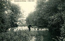 N°56273 -cpa Nimelette Riziès -l'au Noire -pêcheur- - Belgique