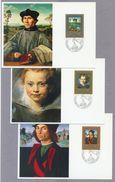 Liechtenstein 1985 Paintings 3 Maximum Cards Fine Art 3 Maximum Karten Gemälde Rubens Raffael Massys - Rubens
