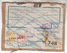 1955 - Y&T N° CP7 + CP23A Et CP26 Sur Document Départ De Livarot - FRANCO DE PORT - Colis Postaux