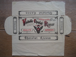 Emballage Véritable CHOCOLAT RUSSE à La Vanille - Chocolat