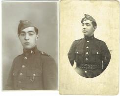 Carte Photo + Photo. Militaire. Foto Charels, Bruxelles. Lot De 2 Photos - Krieg, Militär