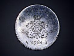 Monaco, Rainier III, 2 Francs, 1981 - 1960-2001 Nouveaux Francs