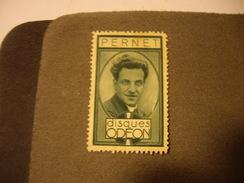 FRANCE Vignette Disques ODEON   PERNET - Commemorative Labels