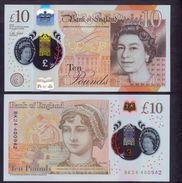 UK 10 Pounds 2016 ( 2017 ) UNC  Polymer - 1952-… : Elizabeth II
