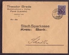 JZ160    Deutsches Reich Forst (Lausitz) 1923 Brief Mit Mi. 230 - Storia Postale