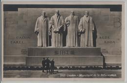 Geneve - Monument De La Reformation - Animee - Phototypie - GE Genf