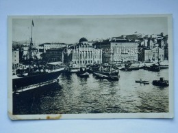 TRIESTE Vecchia Cartolina Riva 3 Novembre Piroscafo Nave Barca Vela 6 - Trieste