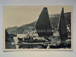 TRIESTE Vecchia Cartolina BARCOLA Il Porto Barche Da Pesca Pescatori 65195 - Trieste