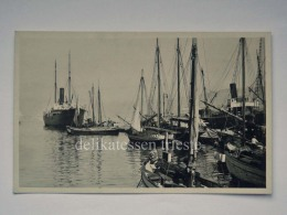 TRIESTE Vecchia Cartolina Barca Vela Piroscafo Foto Sanzin - Trieste