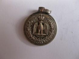 Médaille En Argent. Corse. Aigle Imperial. Tête De Maure - France