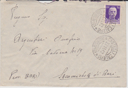 ITALIA 1929 SASSONE 251 SU BUSTA DA CASTELLI CALEPIO 1942 78* REGGIMENTO LUPI DI TOSCANA - Storia Postale