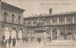 BOLOGNA PIAZZA V.EMANUELE PORTICI DEL PAVAGLIONE CON PUBBLICITA' -FP - Bologna