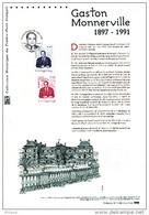 """"""" GASTON MONNERVILLE """" Sur Document Philatélique Officiel De 2011 . N° YT 4628. Parfait état. DPO - 2010-...."""