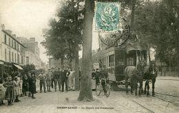 N°56308 -cpa Choisy Le Roi -le Départ Des Tramways- - Choisy Le Roi
