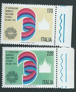 Italia, Italy 1979; Esposizione Mondiale Di Macchine Utensili. Serie Completa Di Bordo. Nuovi. - Fabbriche E Imprese