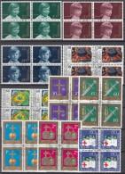 LIECHTENSTEIN, Aus Jahrgang 1975, 4erBlocks, Gestempelt, 620-629 - Used Stamps