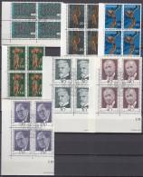 LIECHTENSTEIN, 564, 567-572, 4erBlock, Eckrand, Gestempelt, 1972 - Used Stamps