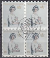 LIECHTENSTEIN, 459, 4erBlock, Gestempelt, Fürstin Gina, 1965 - Used Stamps