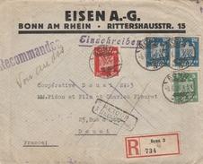 RETOUR à L'ENVOYEUR D'une L.R. De BONN (D) Du 5/6/24 Pour DOUAI Le 7/6 - LE DESTINATAIRE N'A PAS DÉPOSÉ LES PIECES ... - Postmark Collection (Covers)