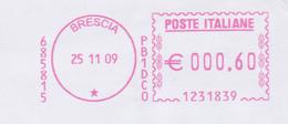 ITALIA 2009 EMA DA BRESCIA - Affrancature Meccaniche Rosse (EMA)