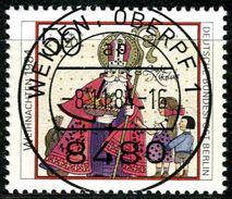 Berlin - Michel 729 - Zentrisch OO Gestempelt (A) - 50+25Pf  Weihnachten 1984 - Berlin (West)