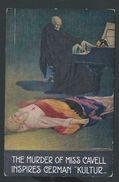 "+++ CPA - ""The Murder Of MISS CAVELL Inspires German Kultur "" - Illustrateur CORBELLA  // - Mujeres Famosas"