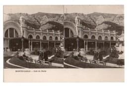 (Monaco) 065, Carte Stéréoscopique Stéréo, Monte-Carlo, Café De Paris, Dos Non Divisé - Monte-Carlo