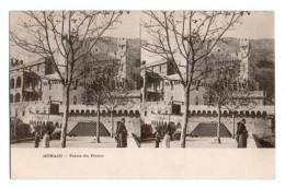 (Monaco) 070, Carte Stéréoscopique Stéréo, Palais Du Prince, Dos Non Divisé - Palacio Del Príncipe
