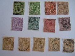 Groot Brittanië Grande-Bretagne Great Britain 13 Stamps George V O - 1902-1951 (Koningen)