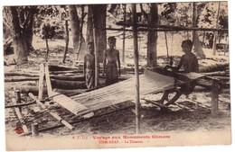 SIEM-REAP  - Voyage Aux Monuments Khmers -  La Tisseuse - Cambodge