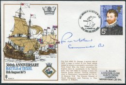 1973 GB Battle Of TEXEL SIGNED Ship Cover. BFPS HMS St. GEORGE. Dutch War, Netherlands - 1952-.... (Elizabeth II)