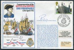 1978 GB Battle Of The Saintes SIGNED Ship Cover. BFPS 1605 HMS FORMIDABLE, Royal Navy - 1952-.... (Elizabeth II)