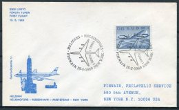 1969 Finland First Flight Cover Helsinki - New York, USA - Airmail