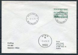1976 Finland First Flight Cover Helsinki - Wien Austria - Airmail