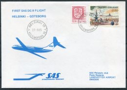 1983 Finland SAS First Flight Cover Helsinki - Goteborg Sweden - Airmail
