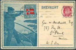 1916 Norway Bergen Patriotic Postcard - USA - Norway