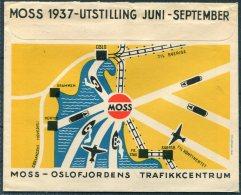 1937 Norway Moss Utstilling Oslofjordens Trafikkcentrum, Mosse Glass Illustrated Advertising Cover - Norway