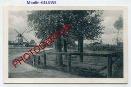 MOULIN A VENT-GELUWE-WINDMÜHLE-GHELUWE-CARTE Imprimee Allemande-Guerre14-18-1 WK-BELGIEN-FLANDERN- - Windmills