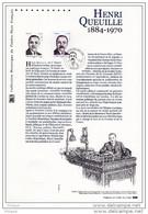 """"""" HENRI QUEUILLE """" Sur Document Philatélique Officiel 1er Jour De 2012. Parfait état. DPO - 2010-...."""