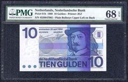 Netherlands, 10 Gulden Type 1968 PMG 68EPQ Superb Gem UNC - Pays-Bas
