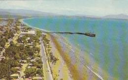 Costa Rica Puntarenas Aerial View Of Beach And Tourists Promenade 1978 - Costa Rica