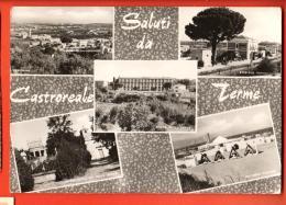 MID-14 Saluti Da Castroreale Terme, Multivues. Viaggiata Verso La Svizzera. Francobollo Manca - Other Cities