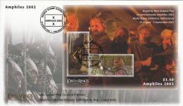 New Zealand 2002 Cover Scott #1755b Strider, Boromir Lord Of The Rings Amphilex 2002 - Expositions Philatéliques
