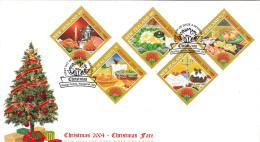 New Zealand 2004 FDC Scott #1978-#1982 Set Of 5 Food Christmas Fare - Noël