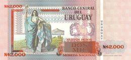Uruguay P.68 2000 Pesos 1989  Unc - Uruguay