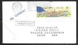 1991 Paquebot Cover, Belgium Stamp Used In Grimsby & Cleethorpe, UK (6 DEC) - Belgium