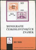 1998 Monografie Ceskoslovenskych Znamek SO 1920 Hardback - Specialized Literature
