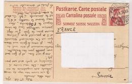 Suisse Entier Postal  Carte Lettre - Entiers Postaux