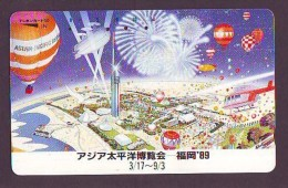 Telecarte  JAPON * SPORT * MONTGOLFIERE (1409) Hot Air Balloon * Ballon * Aerostato  * PHONECARD JAPAN * - Sport